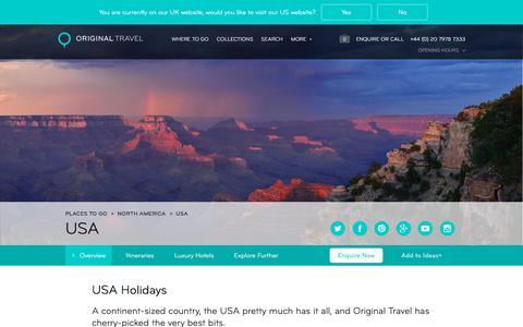 Luxury Holidays USA | America | Original Travel