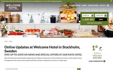 Screenshot of Press Page welcomehotel.se - News at Welcome Hotel near Kista Stockholm - captured Nov. 29, 2016