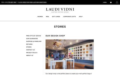 Screenshot of Locations Page laudividni.com - Customer Service   Laudi Vidni - captured Nov. 4, 2018