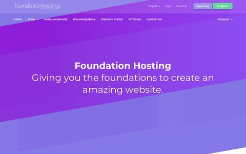 Screenshot of Home Page foundationhosting.co.uk - Foundation Hosting - Portal Home - captured Aug. 17, 2018