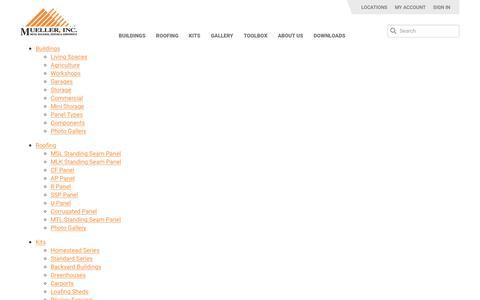 Screenshot of Site Map Page muellerinc.com - Sitemap - Mueller, Inc - captured Nov. 7, 2018