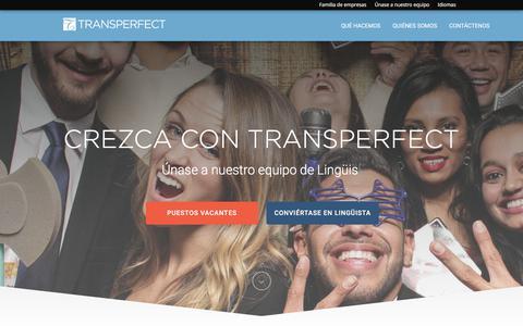 Screenshot of Jobs Page transperfect.com - Oportunidades de empleo en TransPerfect | TransPerfect - captured Oct. 3, 2017