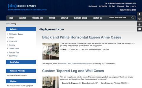 Screenshot of Blog display-smart.com - display-smart.com - captured Oct. 5, 2014