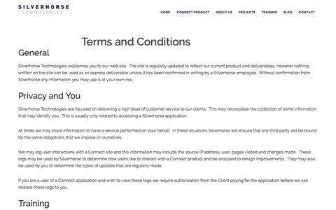 Terms and Conditions • Silverhorse Technologies