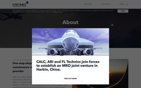Screenshot of About Page fltechnics.com - FL Technics   About - FL Technics - captured Nov. 14, 2018