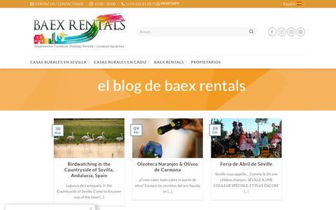 Screenshot of Blog baexrentals.com - Visitas y Rutas por Andalucía - Blog de Baex Rentals - captured July 23, 2018