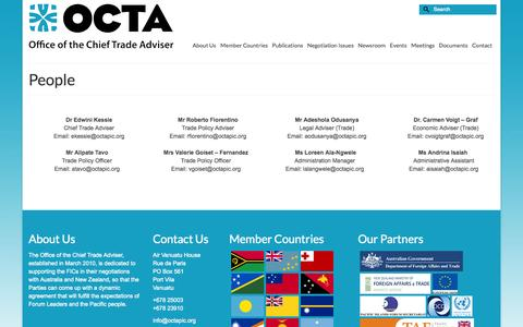 Screenshot of Team Page octapic.org - People | OCTA - captured Oct. 7, 2014