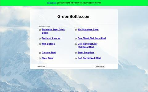 Screenshot of Home Page greenbottle.com - GreenBottle.com - captured July 25, 2018