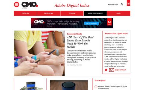 Adobe Digital Index | CMO.com - Adobe