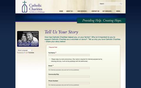 Screenshot of Testimonials Page catholiccharitiesdubuque.org - Testimonials « Catholic Charities of Dubuque - captured Oct. 27, 2016