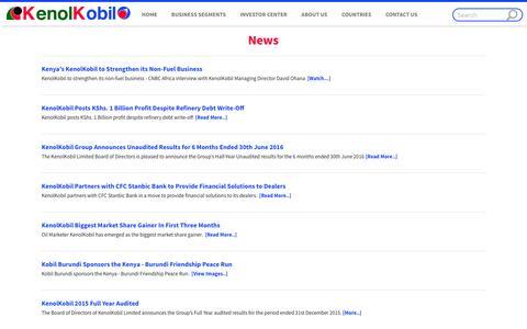 Screenshot of Press Page kenolkobil.com - News - KenolKobil - captured Nov. 27, 2016