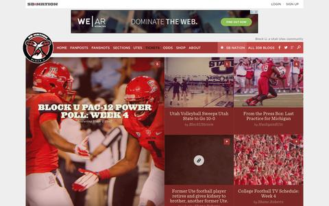 Screenshot of Home Page blocku.com - Block U, a Utah Utes community - captured Sept. 19, 2014