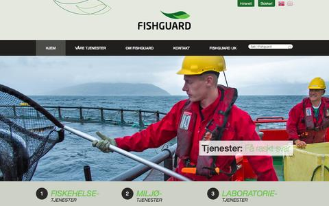 Screenshot of Home Page fishguard.no - Fishguard - Fiskehelsetjenester – Miljøtjenester - Laboratorietjenester - captured Oct. 6, 2014
