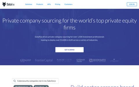 DataFox for Private Equity