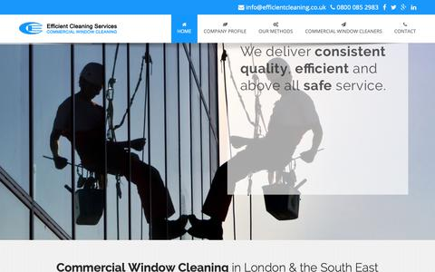 Screenshot of Home Page efficientcleaning.co.uk - Window Cleaning In London & The South East - captured Sept. 27, 2018
