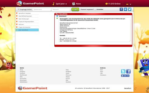 Screenshot of About Page gamepoint.com - Help • GamePoint - captured Oct. 10, 2017
