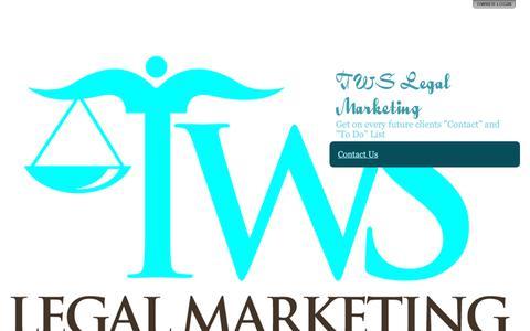Screenshot of Home Page tangled-webb.com - TWS Legal Marketing - captured Nov. 5, 2017