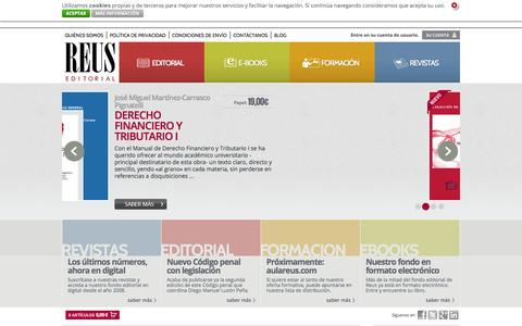 Screenshot of Home Page editorialreus.es - Editorial Reus: Página principal - captured Sept. 29, 2014