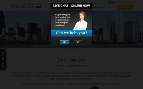 Screenshot of About Page Contact Page theonlinepractice.com - Dental About Us | Dental Web Design | About Us  | BaystoneMedia.com - captured Oct. 17, 2017