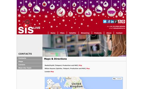 Screenshot of Maps & Directions Page sislive.tv - SIS LIVE - Maps and Directions - captured Dec. 19, 2015