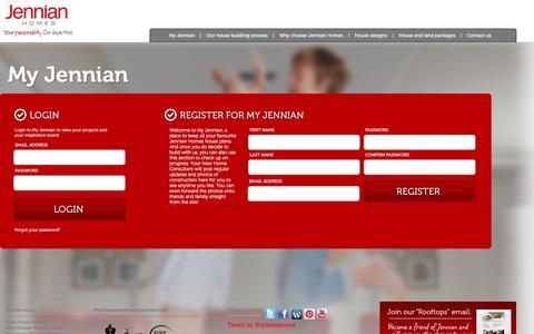 Screenshot of Login Page jennian.co.nz - Jennian Homes- Login - captured Feb. 4, 2016