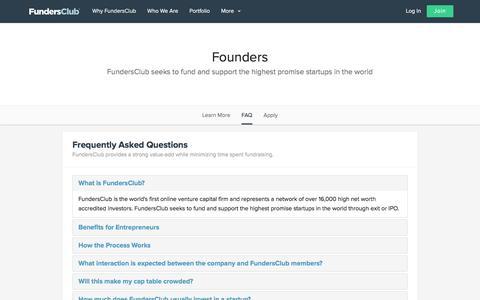 FAQ | FundersClub