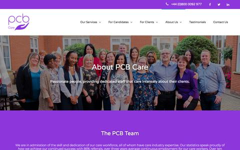Screenshot of About Page pcbcare.co.uk - About PCB Care - PCB Care - captured Sept. 25, 2018