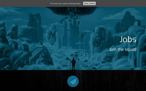 Screenshot of Jobs Page iceberg-games.com - Jobs - Iceberg Interactive - Video Games Publisher - captured Dec. 19, 2018