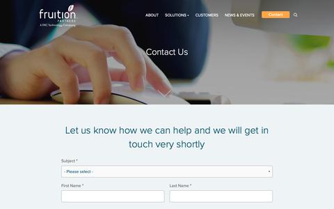 Screenshot of Contact Page keystone-ms.com.au - Contact Us - Fruition Partners - captured Oct. 15, 2018