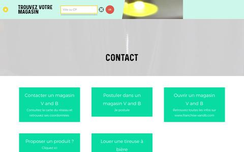 Screenshot of Contact Page vandb.fr - Coordonnées de contact V and B  | V and B - captured Oct. 30, 2017
