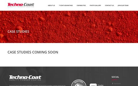 Screenshot of Case Studies Page technocoat.com - Case Studies – Technocoat - captured Nov. 4, 2017
