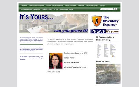 Screenshot of Locations Page proveitsyours.com - Locations - Prove Its Yours   Prove Its Yours - captured Oct. 26, 2014