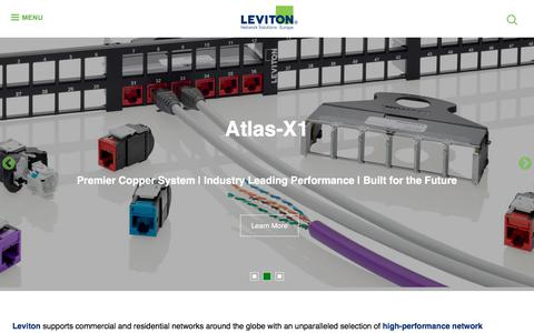 Screenshot of Home Page brand-rex.com - Homepage | Leviton Network Solutions Europe - captured Aug. 3, 2018