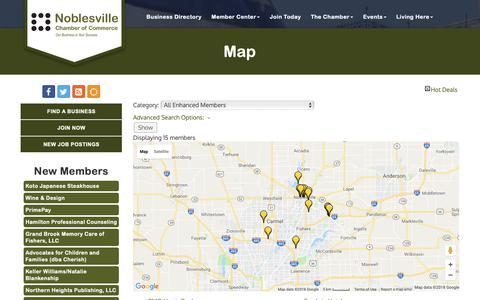 Screenshot of Maps & Directions Page noblesvillechamber.com - Map - Noblesville Chamber of Commerce, IN - captured Oct. 18, 2018