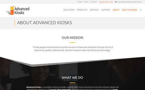 Screenshot of About Page advancedkiosks.com - About Advanced Kiosks - Advanced Kiosks - captured Nov. 7, 2019