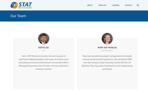 Screenshot of Team Page statrev.com - Our Team - STAT Revenue - captured Sept. 30, 2017