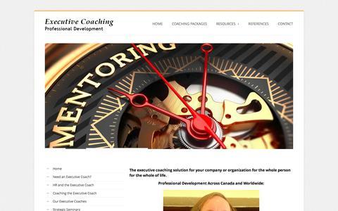 Screenshot of Home Page canadian-executive-coaching.com - Canadian Executive Coaching Toronto - London - Hamilton - Mississauga - Windsor Ontario - captured July 10, 2016