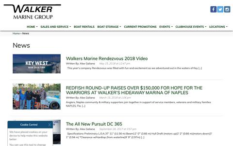 Screenshot of Press Page walkersmarine.com - News - Walkers Marine - captured Sept. 27, 2018
