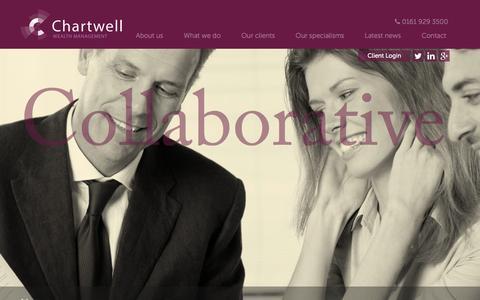 Screenshot of Home Page chartwellfs.com - Home - captured Jan. 29, 2016