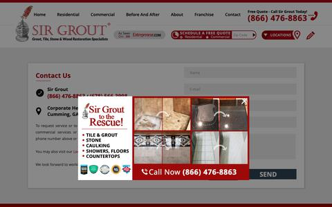 Screenshot of Contact Page sirgrout.com - Contact Sir Grout - captured Nov. 6, 2018