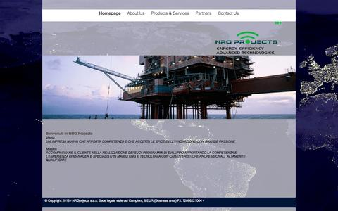 Screenshot of Home Page nrgprojects.it - Homepage - captured Aug. 17, 2015