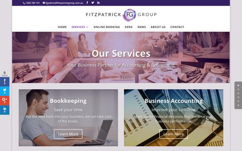 Screenshot of Services Page fitzpatrickgroup.com.au - Services • Fitzpatrick Group - captured June 6, 2017
