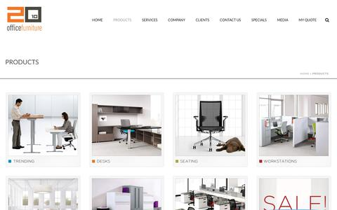 Screenshot of Products Page 2010officefurniture.com - Products - 2010 Office Furniture Los Angeles, Orange County- - captured Oct. 25, 2017