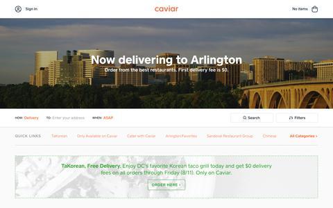 Food Delivery - Washington DC Metro Restaurants | Caviar