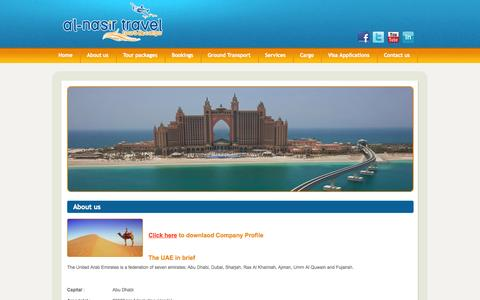 Screenshot of About Page nasirtravels.ae - Nasir Travel Tours & Cargo - captured Oct. 4, 2014