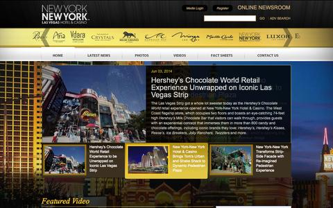 Screenshot of Press Page newyorknewyork.com - Home   New York-New York Hotel & Casino - captured Sept. 19, 2014