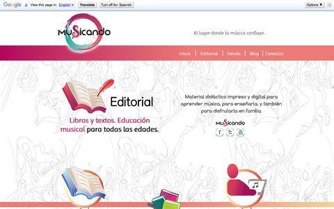Screenshot of Home Page musicando.com.ar - MUSICANDO Editorial - captured Aug. 14, 2016