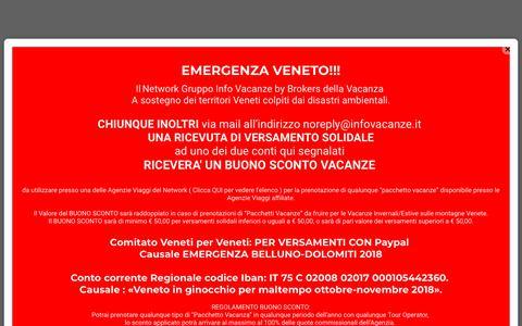 Screenshot of Home Page infovacanze.it - Apri la tua agenzia di viaggi in Franchising con Gruppo info Vacanze - captured Nov. 11, 2018