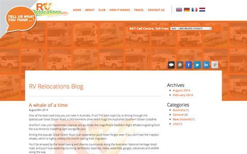 Screenshot of Blog rvrelocations.com - Blog - RV Relocations - captured Sept. 30, 2014