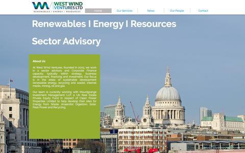 Screenshot of Home Page westwindventures.com - West Wind Ventures Ltd - captured Nov. 7, 2017